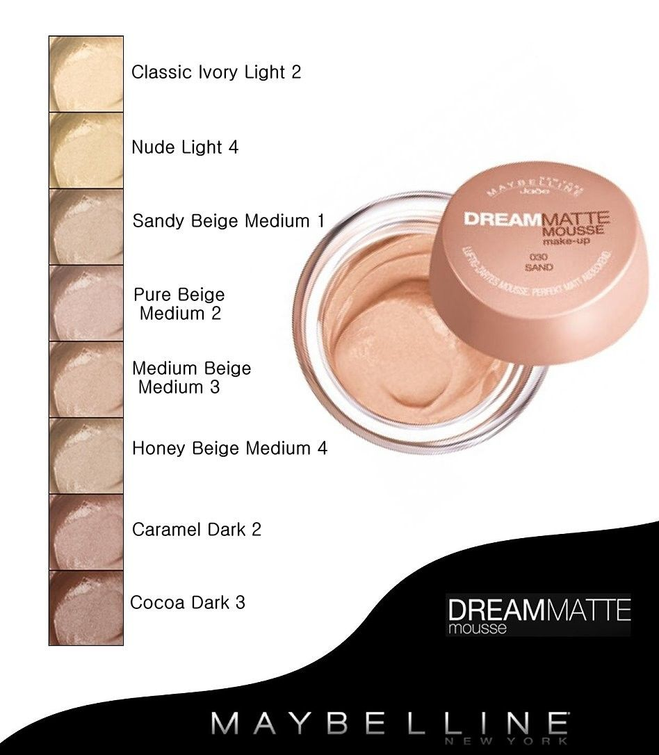 Maybelline Dream Matte Mousse Foundation SPF 18 – Royal Care Cosmetics  Online